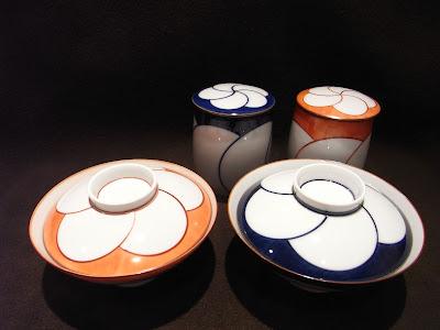 白山陶器 ねじり梅 ご飯茶碗 蓋付湯呑