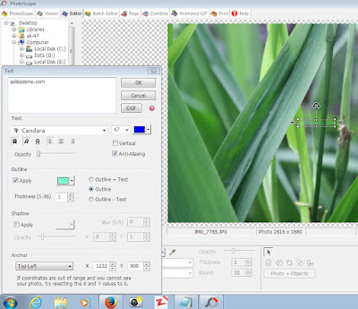 Cara Membuat Watermark Menggunakan PhotoScape