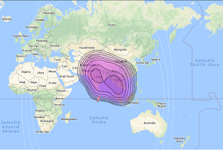 Footprint Satelit Thaicom 5 78.5°E KU Band