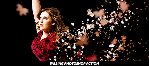 Falling Photoshop Action