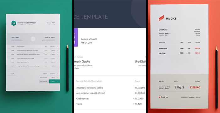 Freebies Creative Free Invoice Templates DezignHD Best Source - Modern invoice template