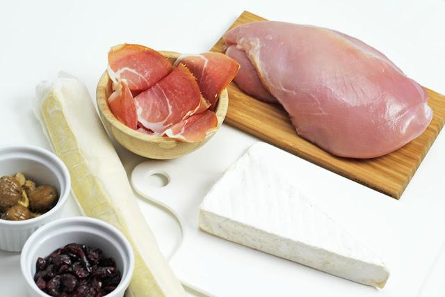 Υλικά για συνταγή Γαλοπούλας Wellington με Κάστανα και Κράνμπερι