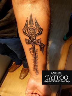 trishul tattoo, trishul tattoo design, trishul tattoo on forearm, shiva tattoo