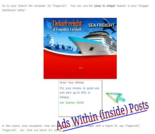 Add Ads Within or Inside Blog Posts using jquery blogger