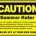 Razões pelas quais não gosto do verão