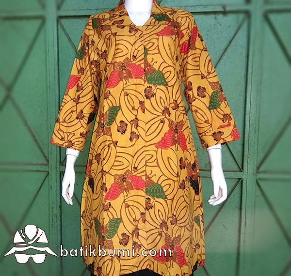 Tunik Batik Motif Kupu Genes