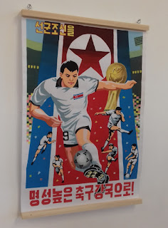 Poster from North Korea's participation in the 2010 World Cup