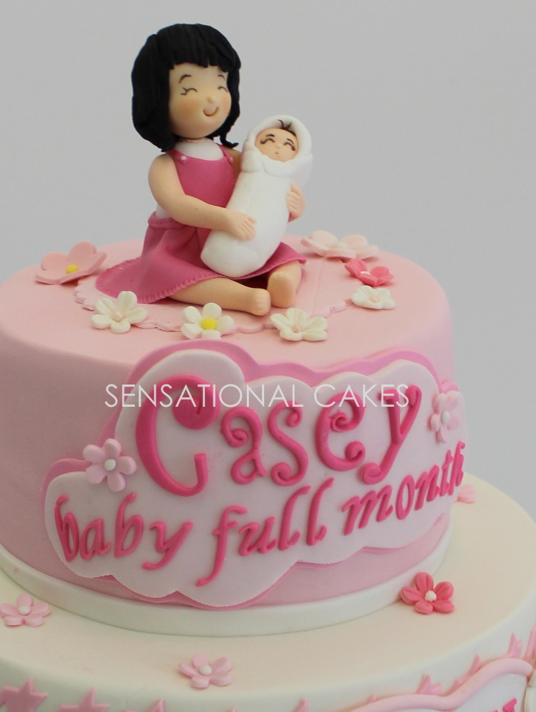 The Sensational Cakes Dior style cake for mum and baby girl Hello