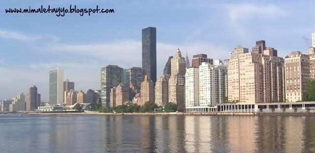 Vistas de Manhattan desde la isla Roosevelt