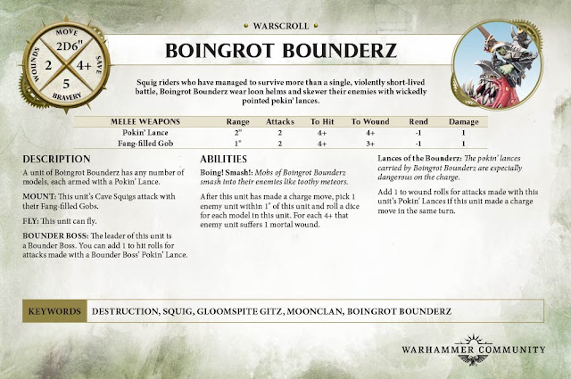 Boingrot Bounderz warscroll