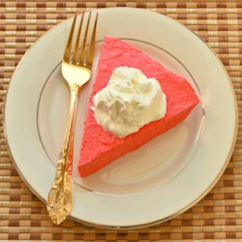 Two-Ingredient Sugar-Free Raspberry Yogurt Pie Recipe for a South Beach Diet Phase One (Low-Carb) Dessert found on KalynsKitchen.com
