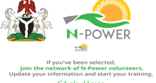 N-power Volunteer Programme   Agro Tax Build Creative Health Teach Tech Haredware & Software