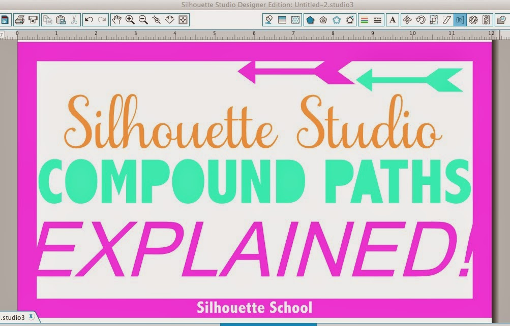 Silhouette Studio, compound path, Silhouette tutorial, silhouette america blog, silhouette 101