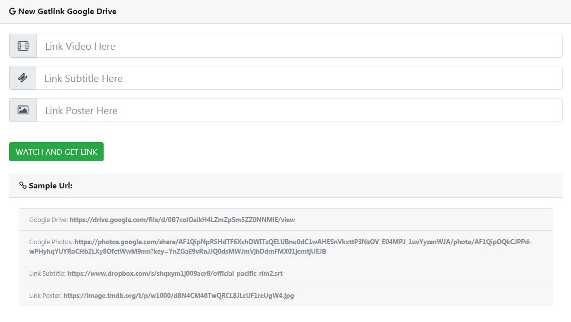 Php Script Getlink Drive Dan Uplayer Plugin Untuk Wordpress