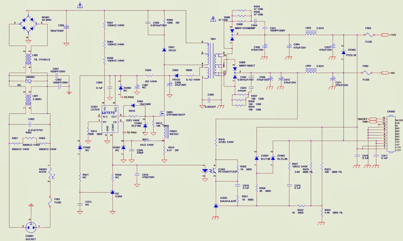 HCL HCM9LWAT11  19 INCH LCD MONITOR – POWER SUPPLY