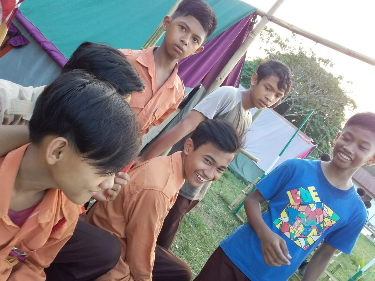Foto Kegiatan Pramuka MTs Nurul Huda Di Perjusami SMA Negeri 2 Tandun