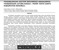 Contoh Jurnal Ilmiah Tehnik Industri Keywords: Sistem Informasi, Inventory, Safety Stock, Reorder Point Download