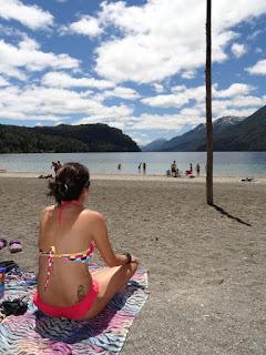 Verão na patagônia, praia em Villa la Angostura