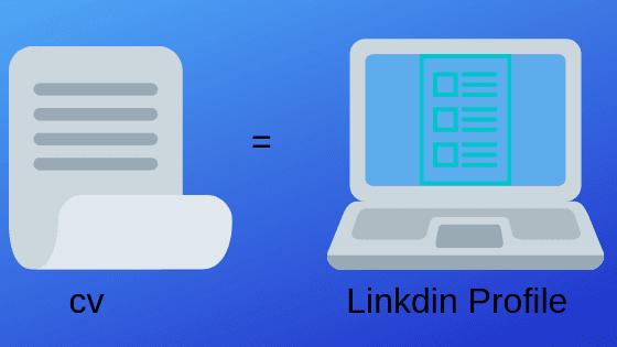 Linkdin profile change personal website CV ?