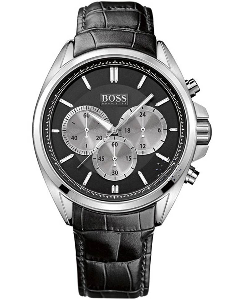 BOSS Classic Stainless Steel Black Leather Strap Η τιμή μας  249€ be685183722