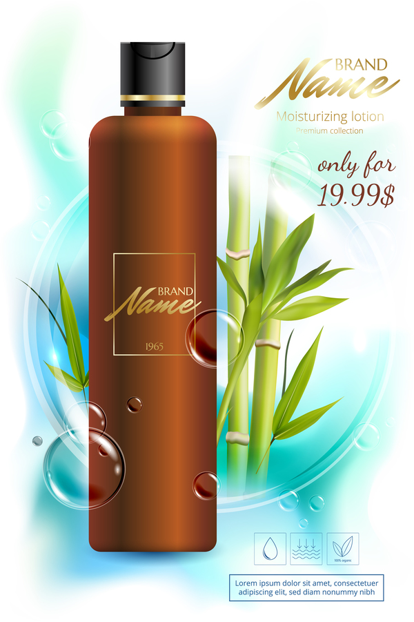 bamboo cosmetic advertising poster vector download free vector