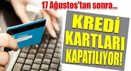 Kredi Kartları Online Alışverişe Kapatılacak