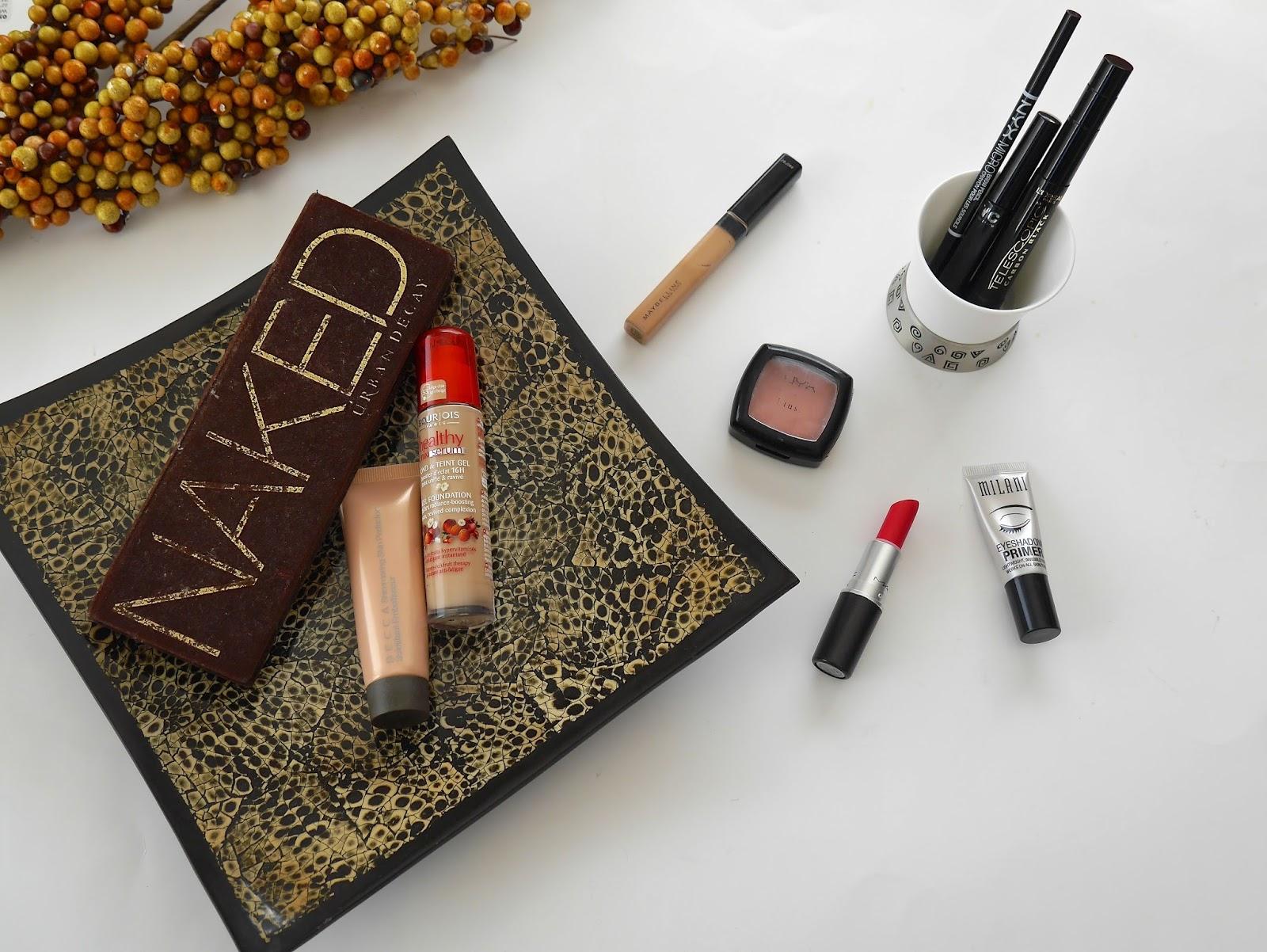 Beauty & Health, blusher, eye liner, eyebrow gel, eyebrow pencil, eyeshadow base, eyeshadows, FOTD, foundation, lipstick, mascara,