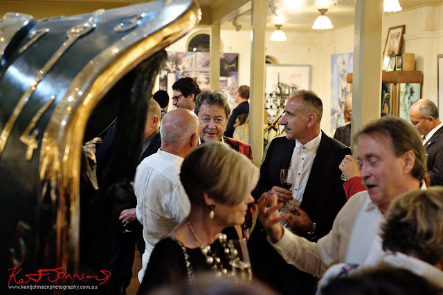 Charles and patrons - Dali Sculptures LAUNCH at Billich Gallery - Photography by Kent Johnson for Street Fashion Sydney
