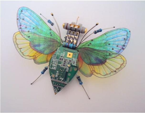 Julie Alice Chappell escultura de insecto.
