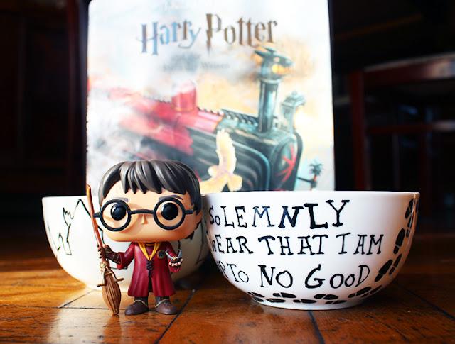 selbstbemalte Müslischüsseln Harry Potter