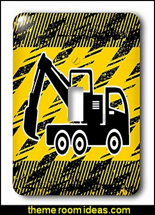Construction Digger Truck in Black and Yellow - Light Switch Covers