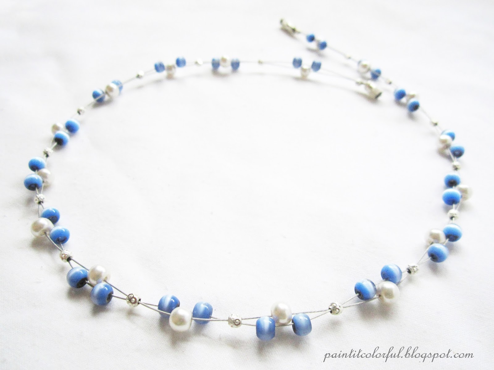 Floating necklace tutorial