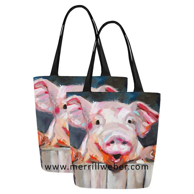cute-pig-painting-tote-bag