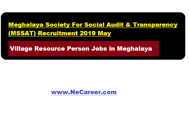 mssat recruitment 2019 may - meghalaya jobs vacancy
