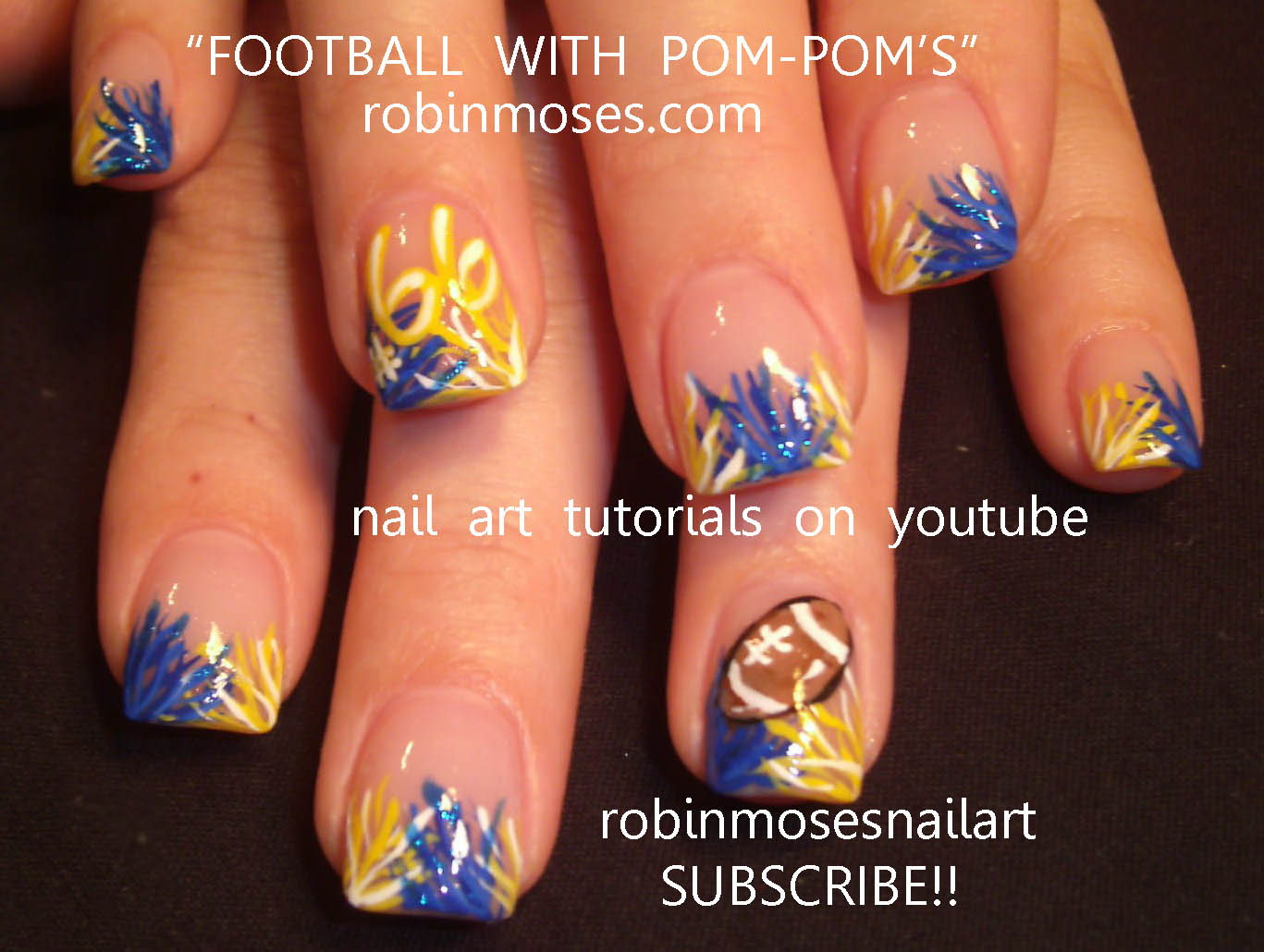 UFC NAILS, TAPOUT nails, ultimate fighting nails, sports nails, football nails, pom poms nails