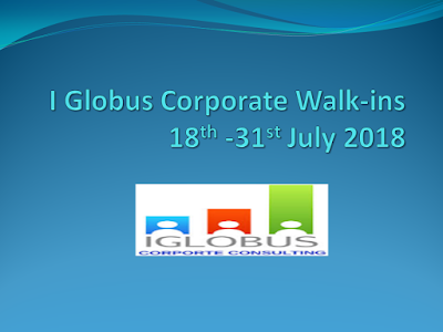 I Globus Corporate Consulting Walkins for Customer Support Executive | 18th - 31st July 2018 | Hyderabad