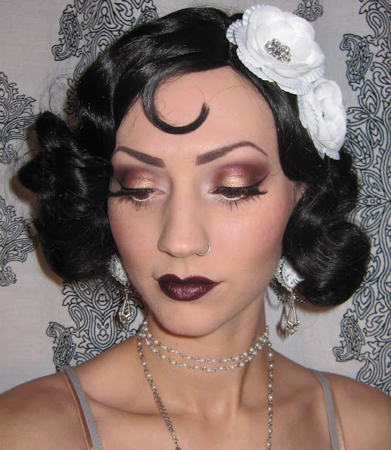 Glitter is my crack...: 1920's Flapper Makeup/Costume look ...