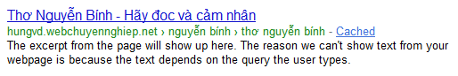 Rich Snippets dạng Breadcrumb