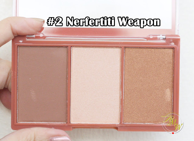 a photo of Cathy Doll 3D Face Forward Contour Kit Review in shades Nerfertiti Weapon