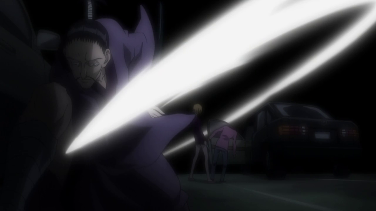 Nobunaga beheads Squala, Squala, Nobunaga, York New City, Hunter x Hunter