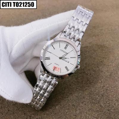 Đồng hồ nam dây inox trắng Citi T021250