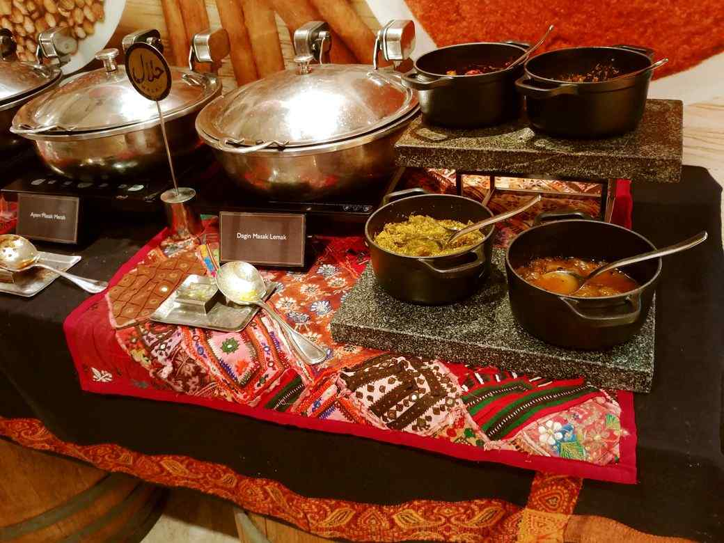 Indian food station at Circles Event Cafe