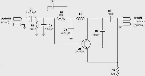 simple fm transmitter with 2n3904