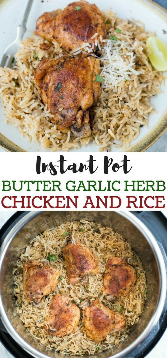 Easy Instant Pot Butter Garlic Herb Chicken and Rice