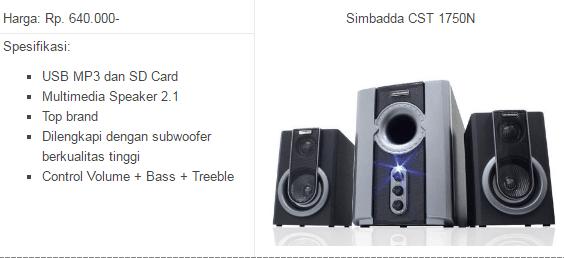 speaker bluetooth simbadda s151