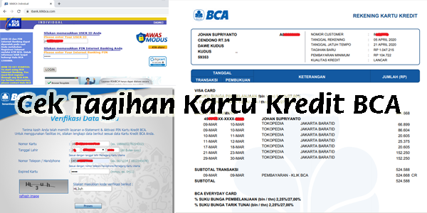 Cara Cek Tagihan Kartu Kredit BCA via Internet
