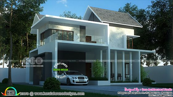 4 bedroom mixed roof contemporary home