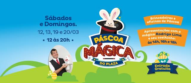 Circuito de brincadeiras de Páscoa garantem a diversão da criançada no Plaza
