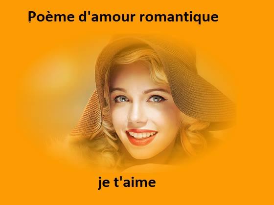 Poème d'amour romantique