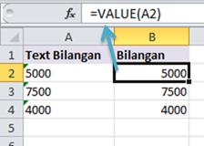 Cara Menggunakan Rumus VALUE di Excel